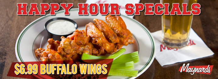 Happy Hour Special - $6.99 Buffalo Wings